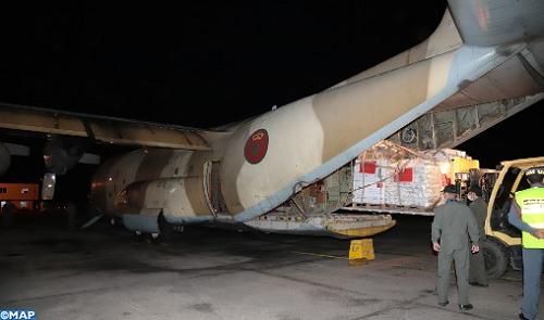 Maroc-Aide humanitaire au profit des Palestiniens: Départ de deux avions militaires vers Amman