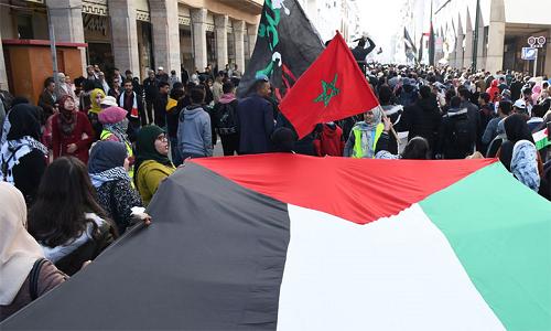 Maroc: Sit-in de solidarité à Rabat avec le peuple palestinien